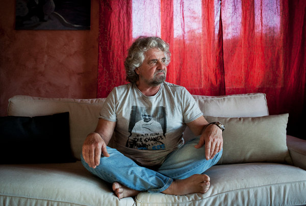 Beppe Grillo, Italy's Gadfly, Reflects a Movement - NYTimes.com